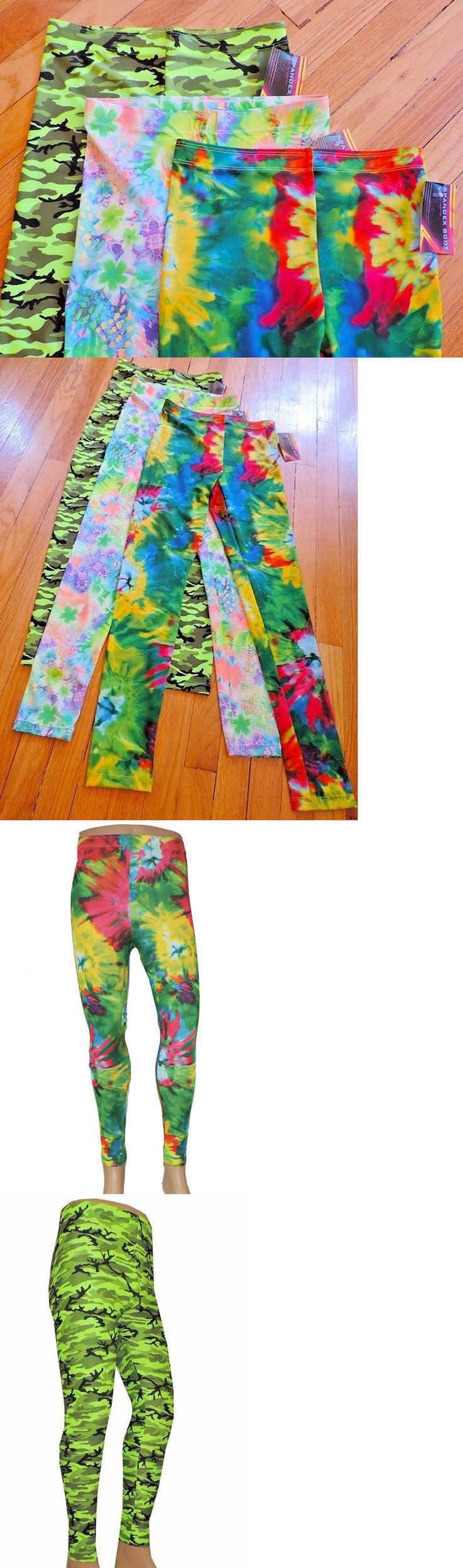 Clothing 79796: Lot 3 Small Wrestling Tights Camoflage Neon Tie Dye Festival Edm Cos Play -> BUY IT NOW ONLY: $60 on eBay!