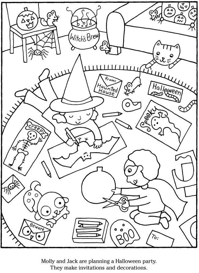 welcome to dover publications color cook halloween