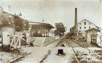 Morpeth Railway Station at Morpeth, NSW ca.1890. v@e.