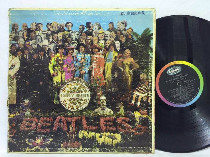 The Beatles Sgt Pepper's Lonely Hearts Club Capitol Mono MAS 2653 #Vinyl Record