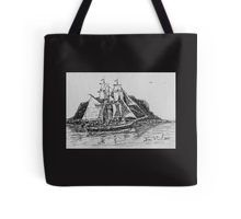 Tall ship and the nut Tote Bag
