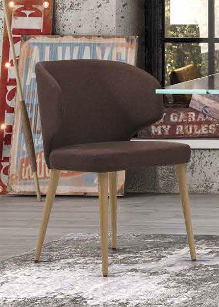 Silla para el salon comedor en roble tapizada actual, silla de ...