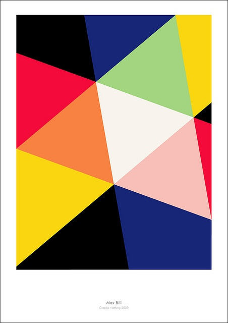 """Arte Concreto - Max Bill - Illustration pour le catalogue de l'exposition """"Die Farbe"""" - 1944"""