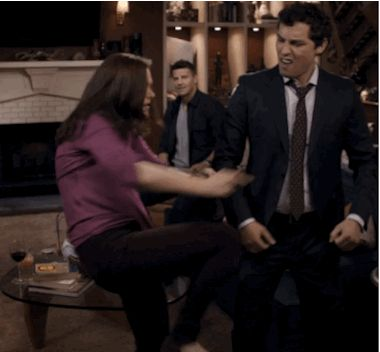 """Breakup dance break. Season 8, """"The Method in the Madness."""" 