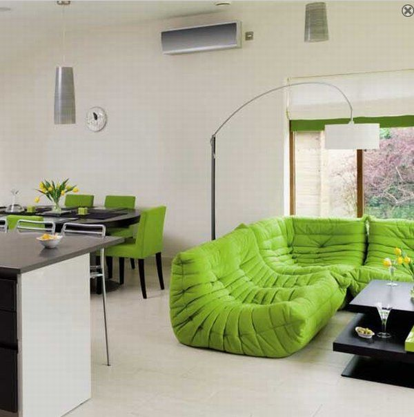 Color verde en las salas