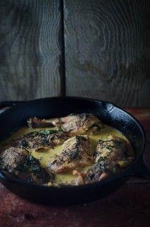 Pan-Roasted Chicken with Cream Sauce #nourishedkitchen #nourishingbroth