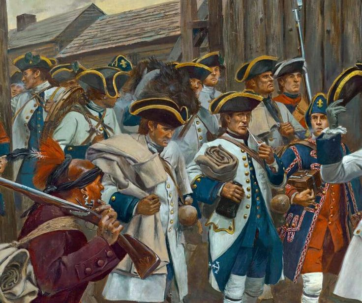 Another detail from the surrender of Detroit showing the French, by Don Troiani