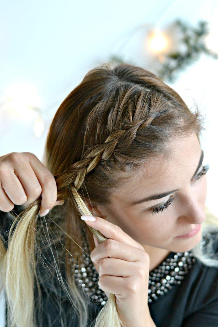 Beauty: Drei festliche Frisuren mit Braun Satin Hair 7 - Frisur N. 1 Bauernzopf mit Locken #festlich #frisuren #beauty #tutorial #braun #weihnachten #christmas