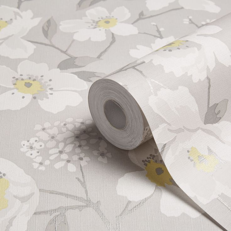 Mandalyn Floral Grey Wallpaper | Departments | DIY at B&Q