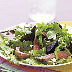 Arugula Salad With Roasted Squash, Currants, And Pine Nuts Recipes ...