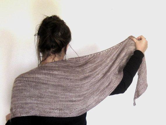 Giant Cozy Handmade Shawl handdyed Yarn Merino di AtelierBusas