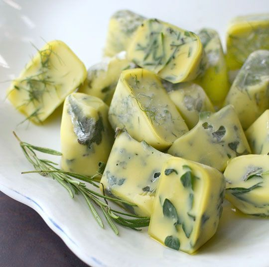 Cooking tip-  Preserve Fresh Herbs by freezing them in Olive Oil