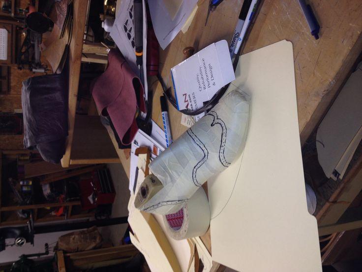Making wing tip boot pattern