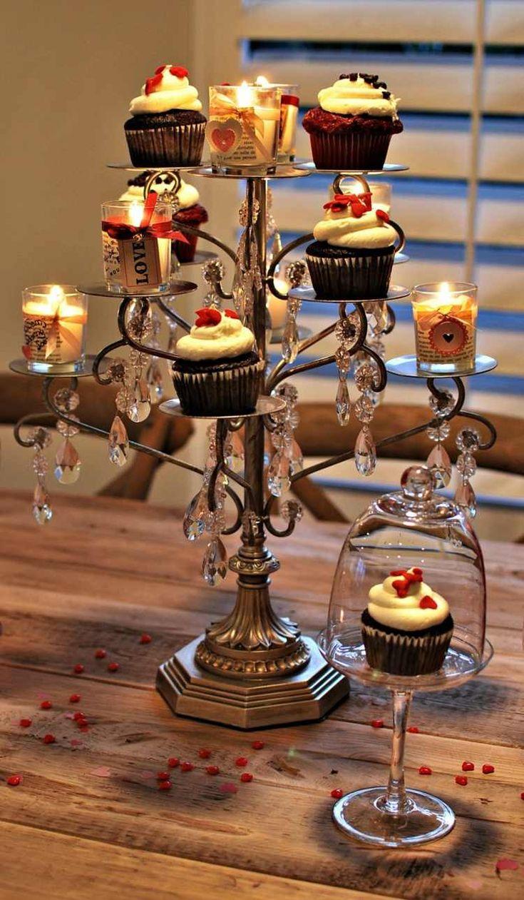 Vintage Weihnachtsdeko aus einem alten Kerzenständer