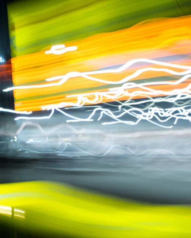 Color galore ___ #photography #photo #nature #light #night #color #path #longexposure #car #thunder #lightning #predestination #yellow #green #motion #movement