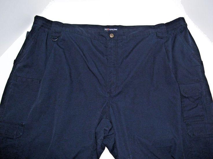 5.11 Tactical Series Cargo Outdoor Mens Pants 100% Cotton 54 x 26 Dark Navy Blue #511Tactical