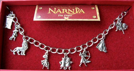 Chronicles of Narnia Pewter Charm Bracelet . by GingerLilyVintage