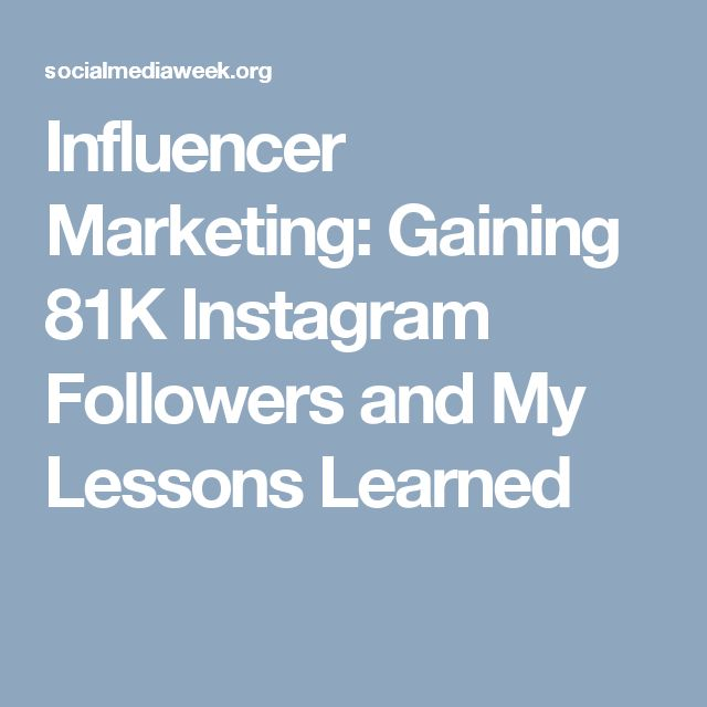 Influencer Marketing: Gaining 81K Instagram Followers and My Lessons Learned