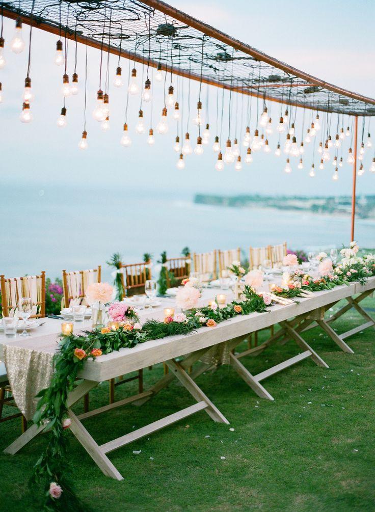 stunning lighting idea for reception