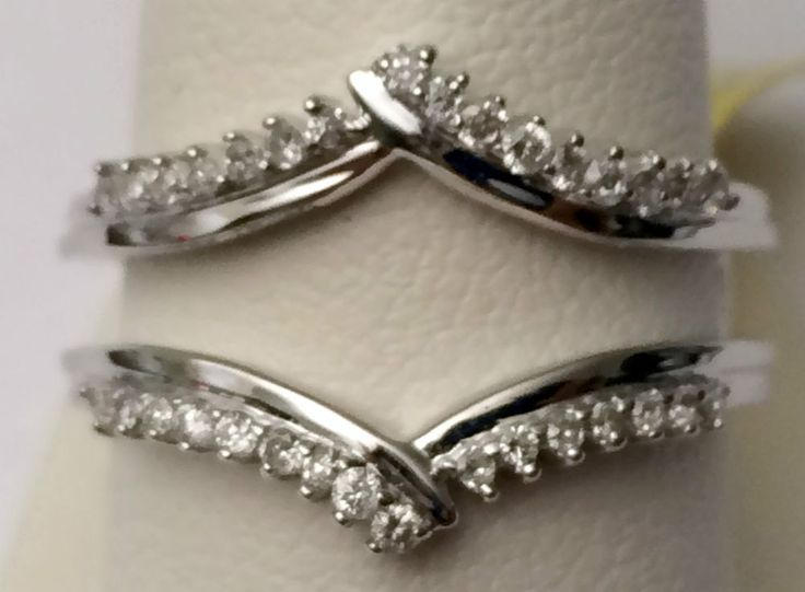 The beauty of a solitaire enhancer showcases her precious engagement ring. Floating between sparkling 14K white gold, rows of prong-set round diamond accents add brilliance. Featuring diamonds totaling 0.23ct., honor your romance with a diamond enhancer. | eBay!