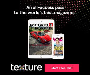 Get the magazines you love with a free 30-day trial from Texture. Read what you want, when you want! Get your free magazine subscriptions now.  #ad #InTexture