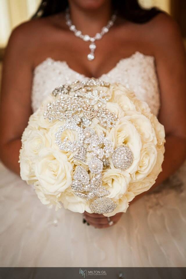 Bridal Flowers With Bling : Exclusive bridal couture by adam leffel productions petals