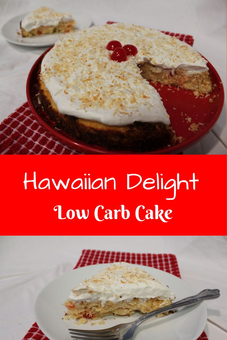 This Hawaiian Delight Low Carb Cake is like an explosion of the Carabean in your mouth!  Yum!!