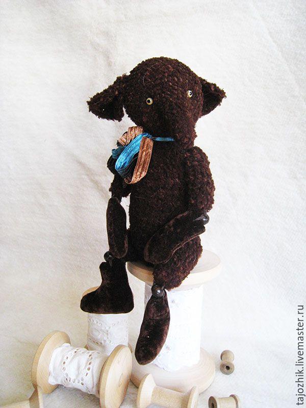 Купить Слон Яшка - коричневый, слон, Вязание крючком, вязаная игрушка, слоник тедди