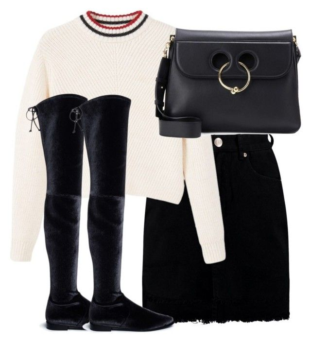 """""""Untitled #2871"""" by theeuropeancloset on Polyvore featuring Boohoo, MANGO, Stuart Weitzman and J.W. Anderson"""