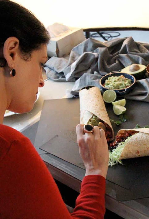 Finishing touches   #burrito #photography #foodstyling #salsa #fresh #delicioso #Mexican