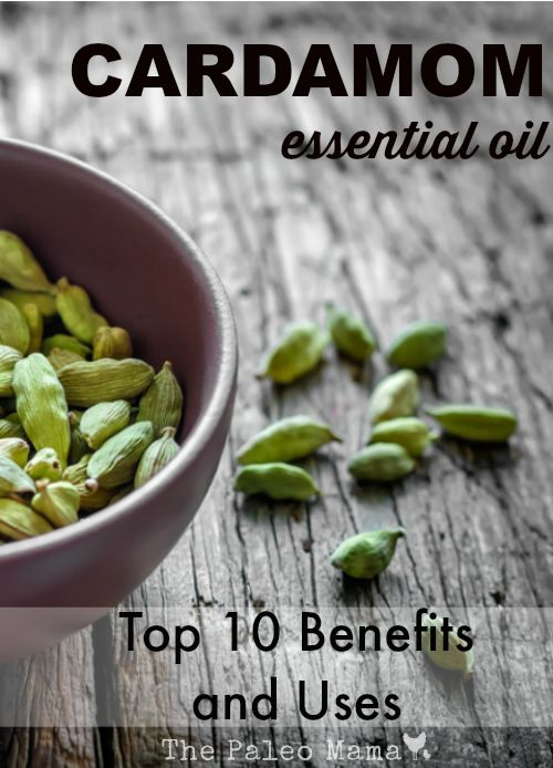 Cardamom essential oil eases stomach upset, promotes clear breathing, and is a flavorful spice for cooking or baking! http://thepaleomama.com/2015/05/cardamom-essential-oil-uses-and-benefits/