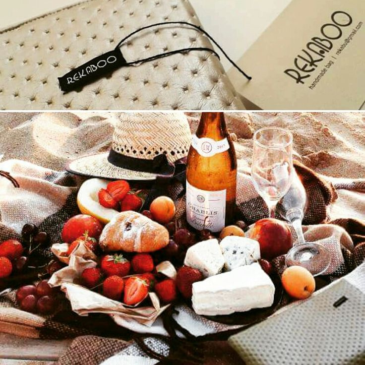 Seaside picnic with Rekaboo bag.