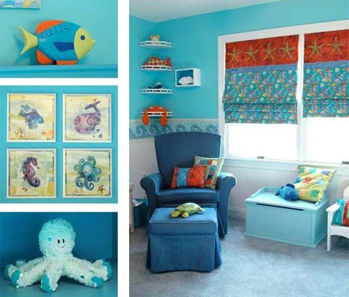 Inspirational Ocean themed Baby Room