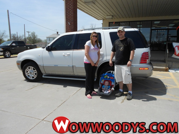 """Kody and Kelli Adams from Trenton, Missouri purchased this 2003 Mercury Mountaineer and wrote, """"We are return customers and decided if we were gonna purchase a car it was definitely Woody's! Polly and everyone was great both times! Would definitely recommend to anyone!"""" To view similar vehicles and more, go to www.wowwoodys.com today!"""