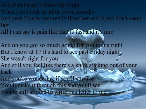 if i could write a letter brad paisley