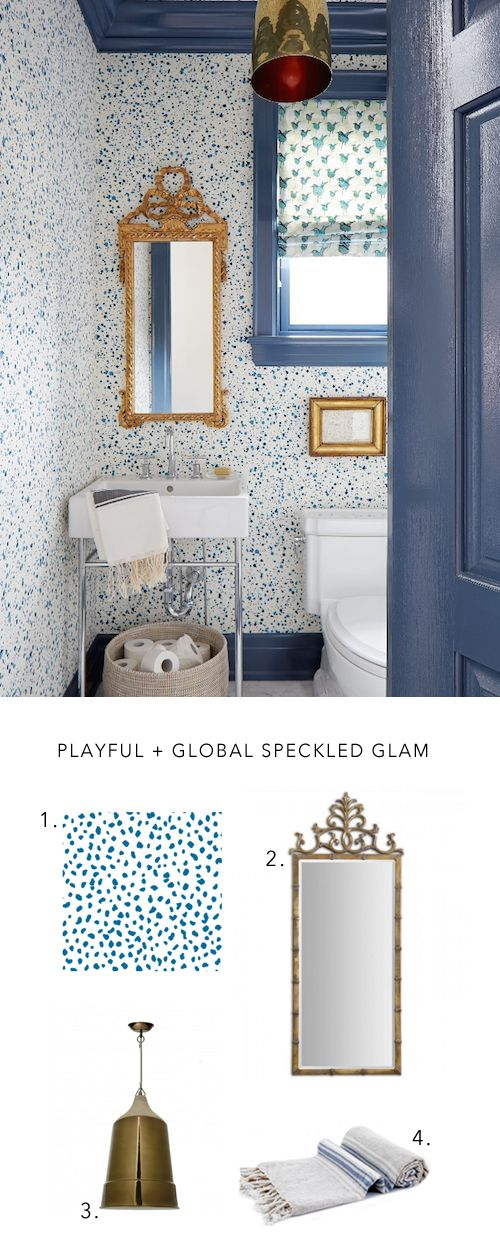 Bathroom Wallpaper Inspiration with Chasing Paper