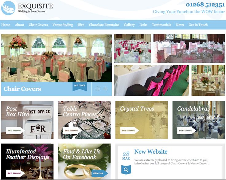 https://www.facebook.com/pages/Exquisite-Wedding-Event-Services/116689648494093  Giving your function the WOW factor http://www.exquisiteweddingandeventservices.co.uk/ Tel: 01268 512351