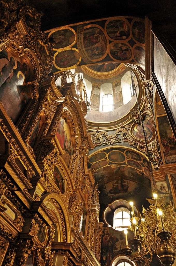 Trinity Over the Gate Church of the Kiev-Pecherskaya Lavra. (Lavra is the monastery of the highest rank in Ukraine)  ~ photo, Jennifer Boyer