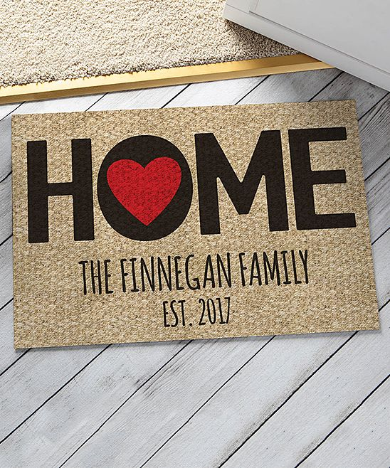 Home Is Where The Heart Is Personalized Door Mat