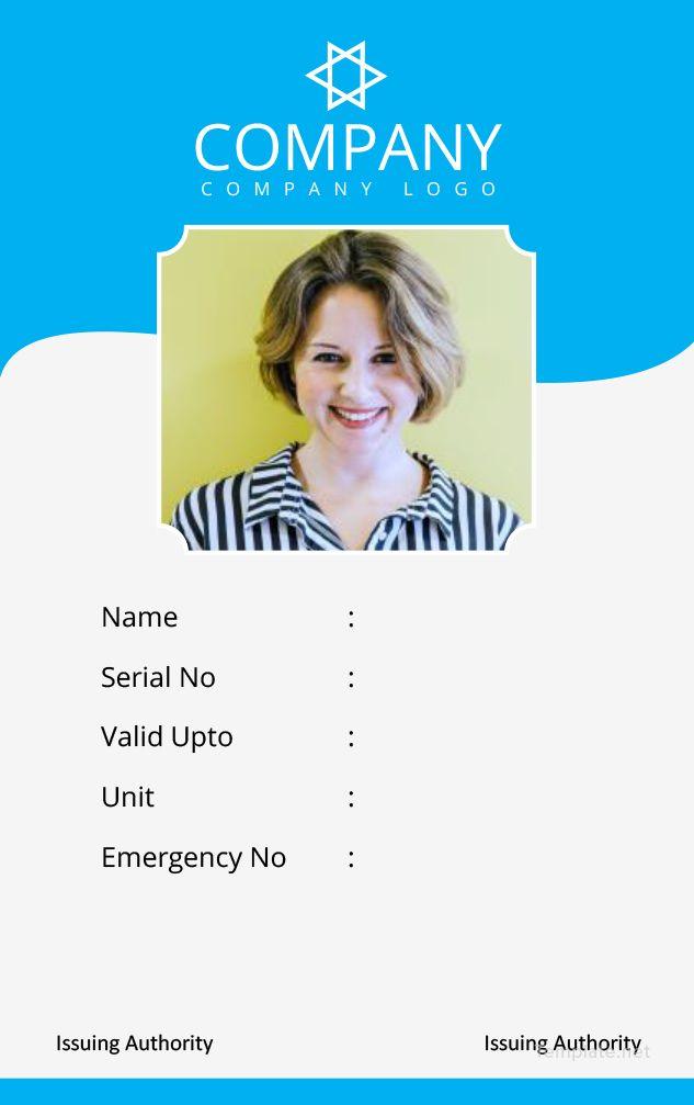 Free Photo Blank Id Card Id Card Template Blank Id Cards Card