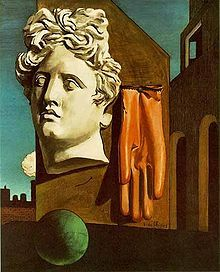 Love Song, 1914 by Giorgio de Chirico, Greek surrealist who founded the movement Scuola Metafisica. De Chirico's influence can easily be seen in the work of Dali and Magritte.