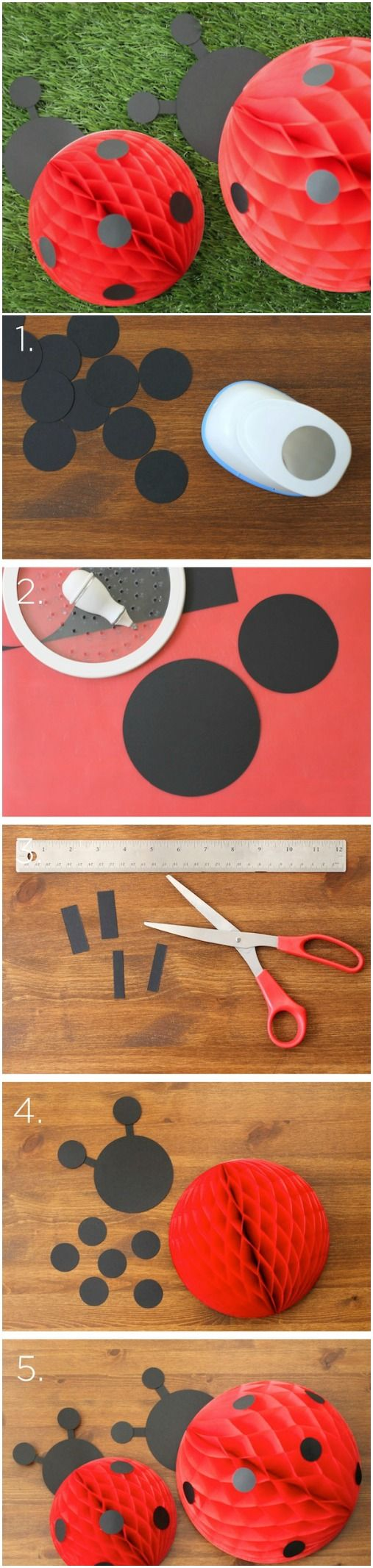 Tear fall colored construction paper into small pieces and glue - Materials 1 Circle Punch Circle Cutter Scissors Black Construction Paper 12 Red Honeycomb