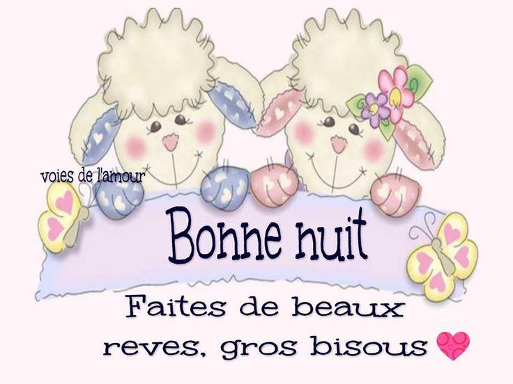 Bonne nuit. Faites de beaux rêves, gros bisous #bonnenuit mouton illustration lit coucher beaux reves papillons