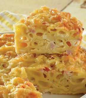 ¡Consiente a a chicos -y grandes- con esta rica pasta. !Pastel de pasta de coditos al horno