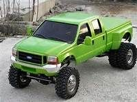 Green Ford Crew Cab Dually
