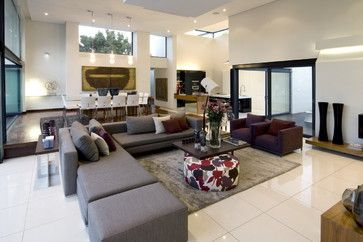 Grey Cream Purple Living Room Design Ideas, Pictures, Remodel, and Decor - page 12