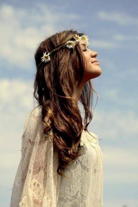 flowers in my hair.