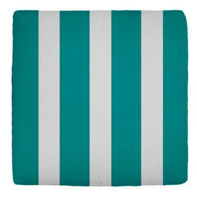 """Wayfair Custom Outdoor Cushions Double-Piped Outdoor Square Ottoman Cushion Fabric: Finnigan Peacock, Width: 25"""", Depth: 21"""""""
