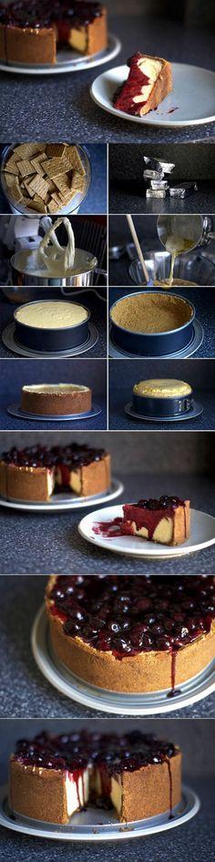 tartas-de-cumpleaños-tarta-de-queso-new-york-con-cerezas-paso-a-paso