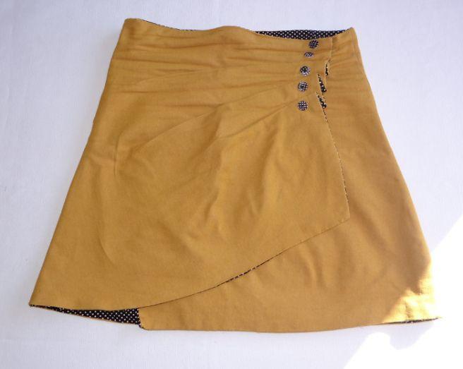 Tuto jupe portefeuille à plis